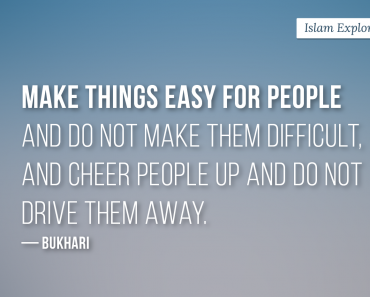 Make things easy for people and do not make them difficult