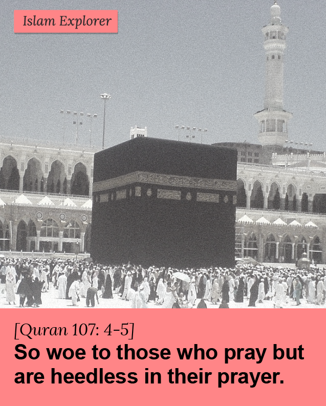 So woe to those who pray