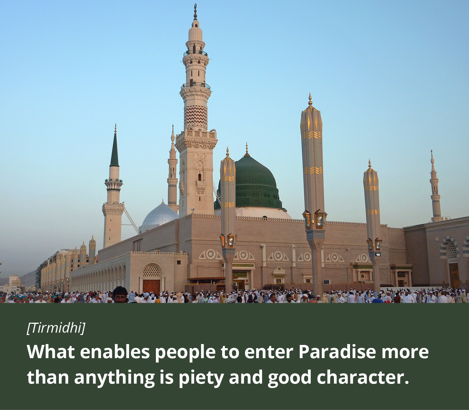 What enables people to enter Paradise