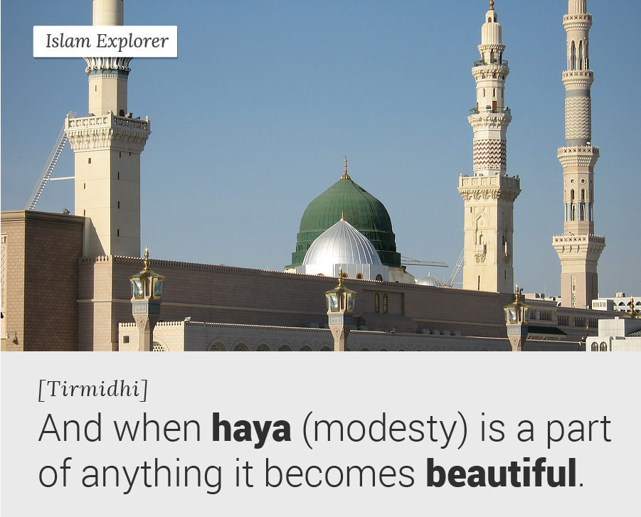And when haya (modesty) is a part of anything