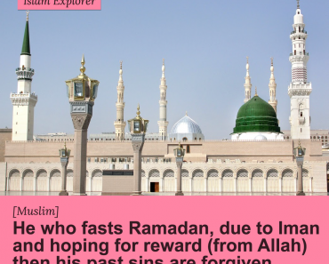 He who fasts Ramadan, due to Iman