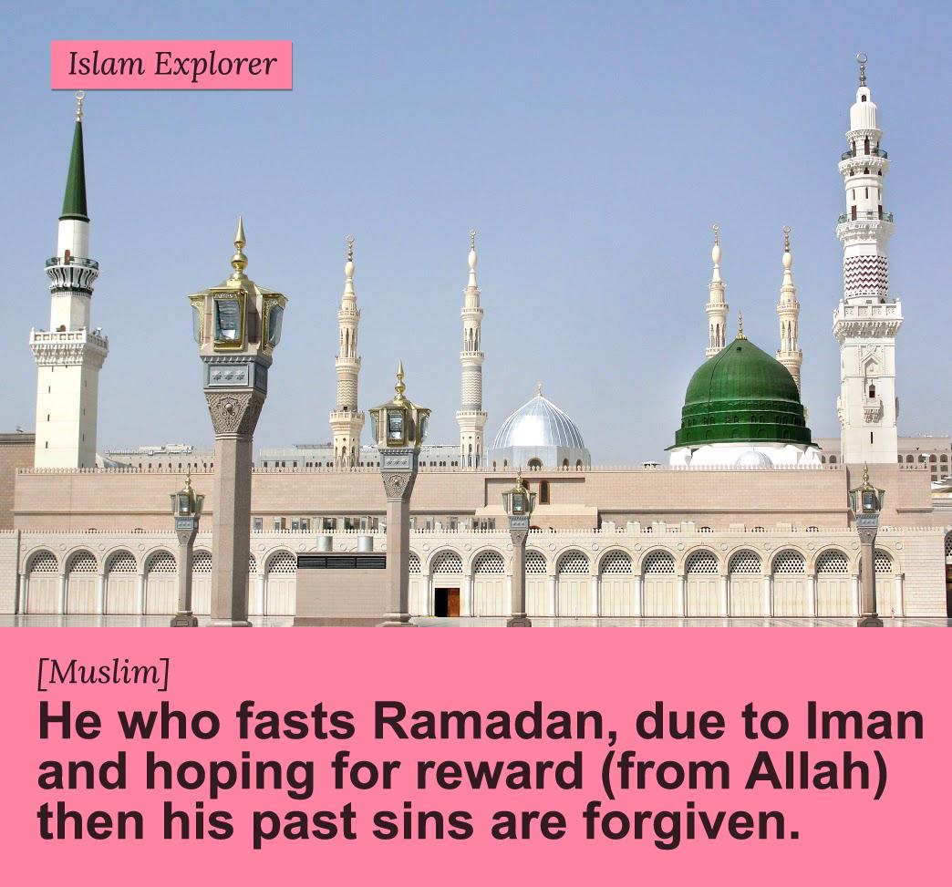 He who fasts Ramadan, due to Iman