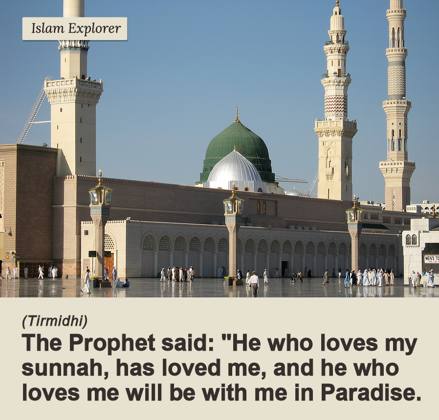 He who loves my sunnah, has loved me