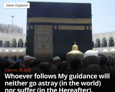 Whoever follows My guidance will neither go astray