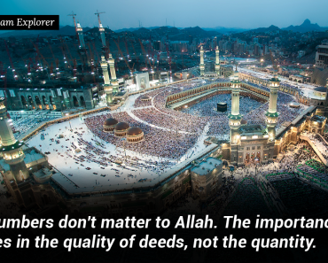 Numbers don't matter to Allah.