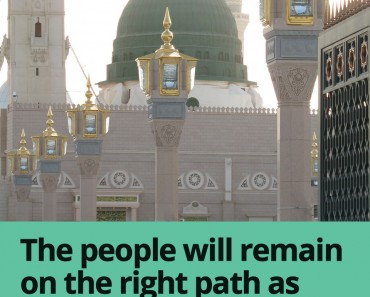 The people will remain on the right path