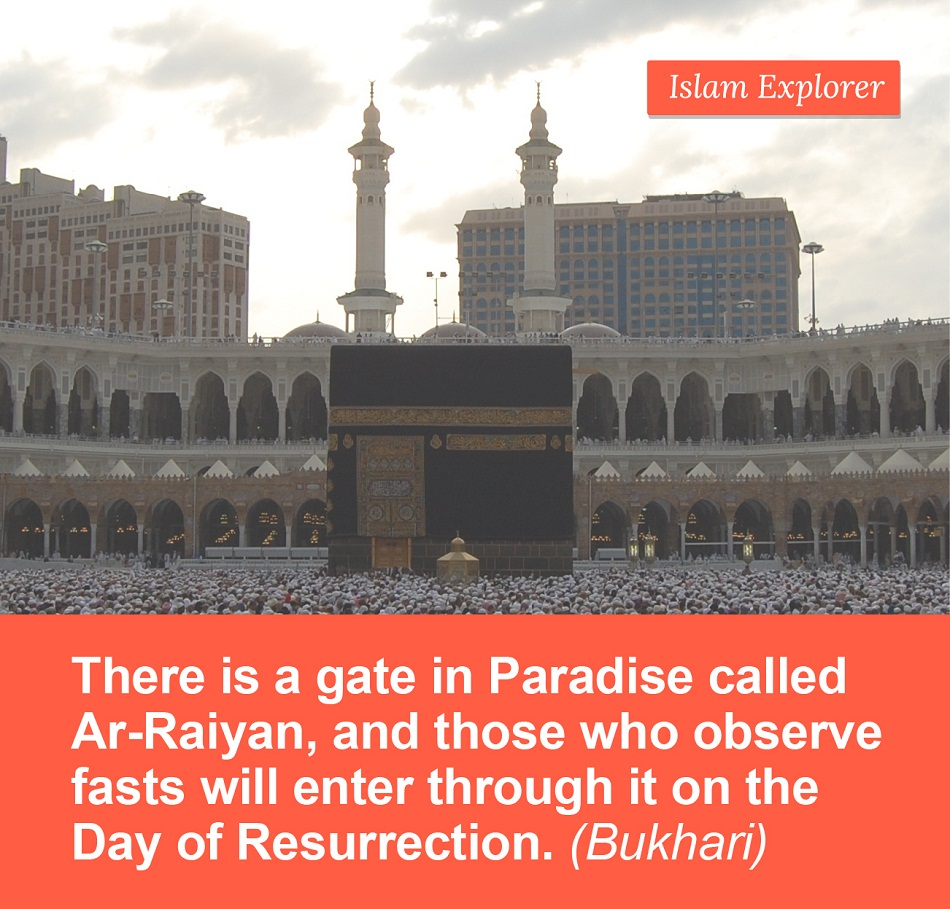 There is a gate in Paradise called Ar- Raiyan