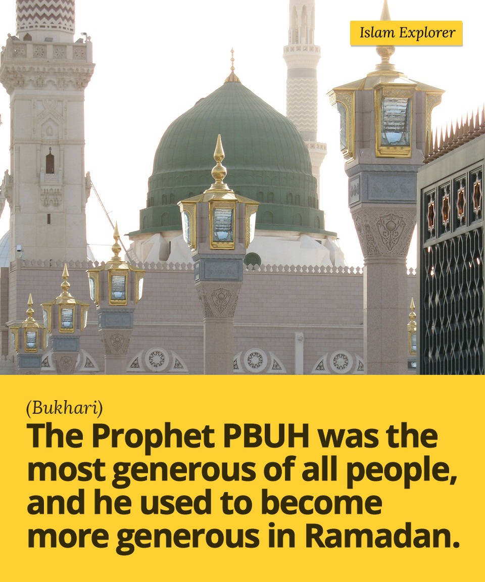 The prophet PBUH was the most generous of all people