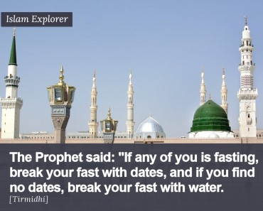If any of you is fasting break your fast dates