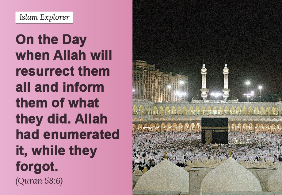 On the Day when Allah will resurrect them all and inform them of what they did.
