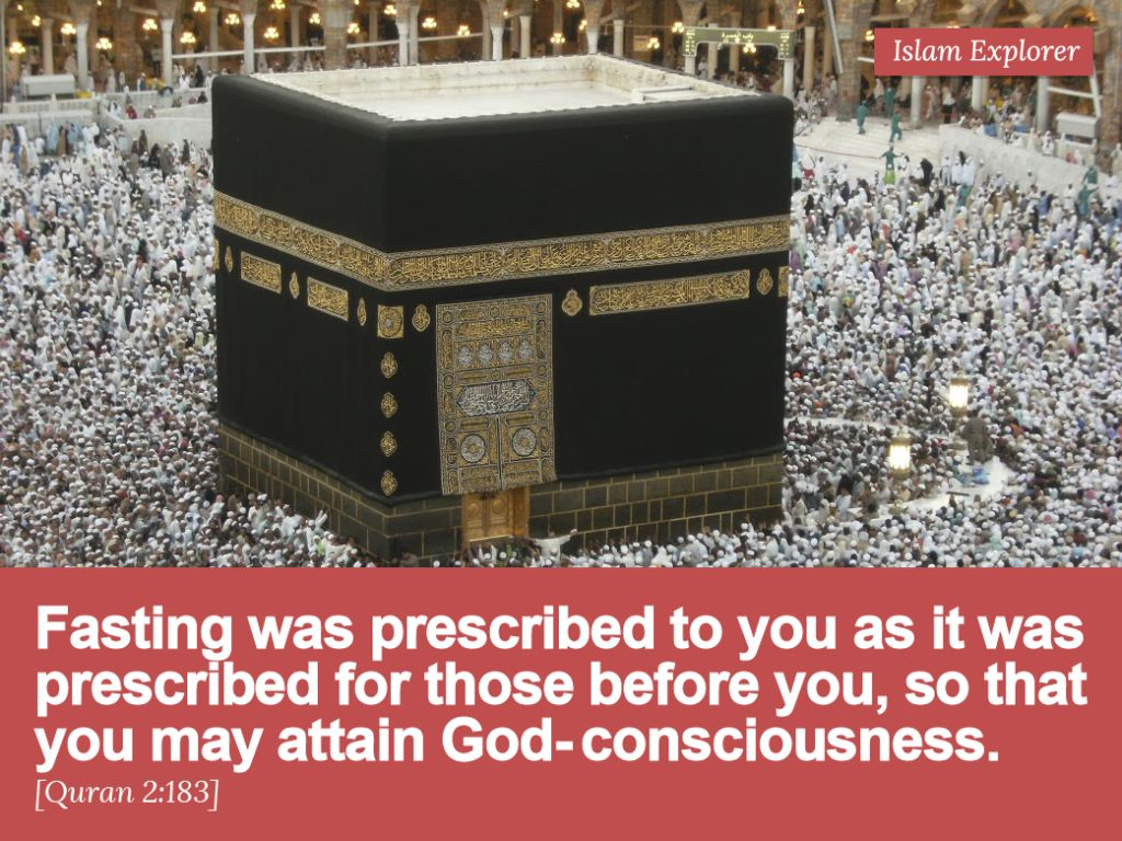 Fasting was prescribed to you as it was prescribed for those before you