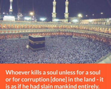 Whoever kills a soul unless for a soul of for corruption