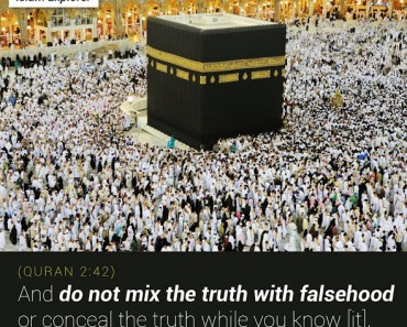 And do not mix the truth with falsehood
