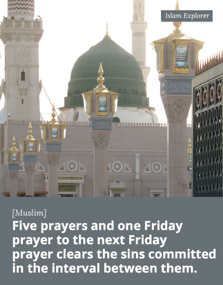 Five prayers and one Friday prayer to the next Friday prayer
