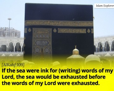 If the sea were ink for (writing) words of my Lord