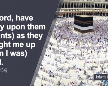 My Lord, have mercy upon them
