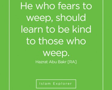 He who fears to weep