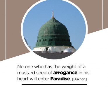 No one who has the weight of a mustard seed of arrogance