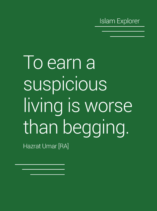 To earn a suspicious living is worse than begging.
