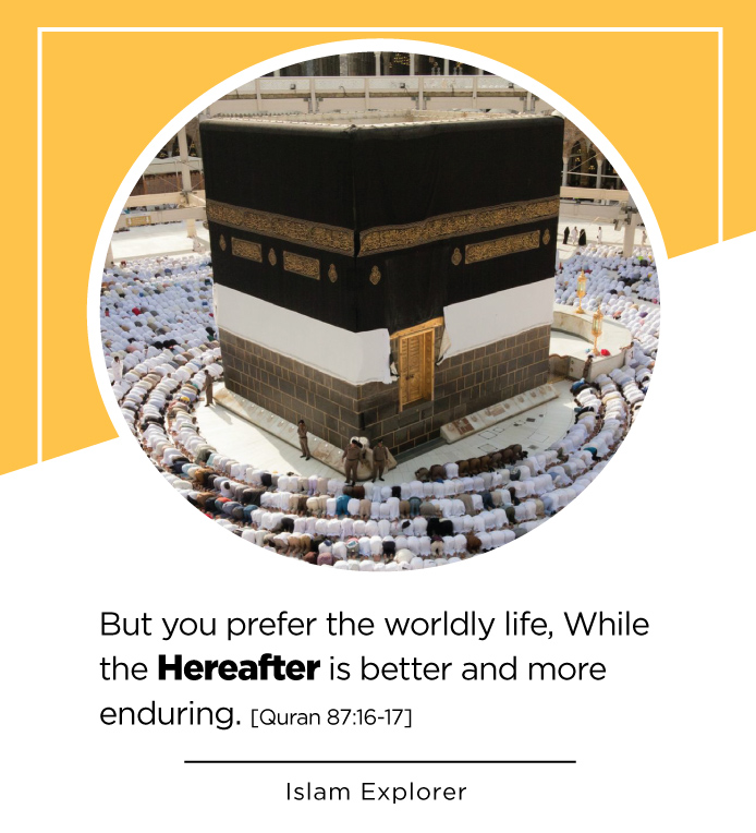 But you prefer the worldly life